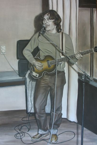 Malerei, Singen, Mann, Weiß, Acrylmalerei, Portrait