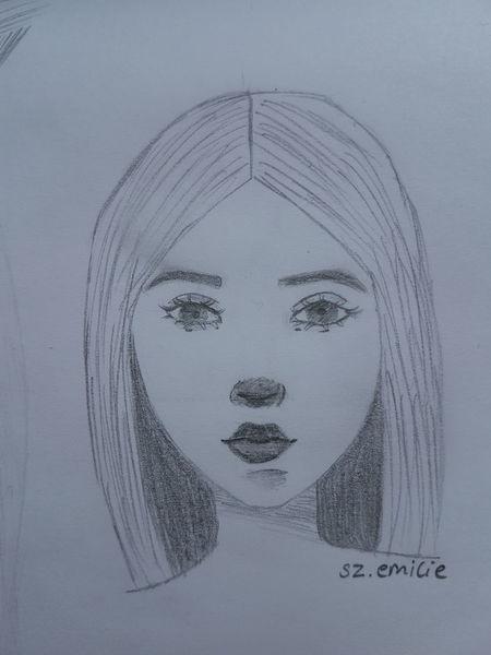 Gesicht, Anfänger, Bleistiftzeichnung, Portrait, Zeichnungen