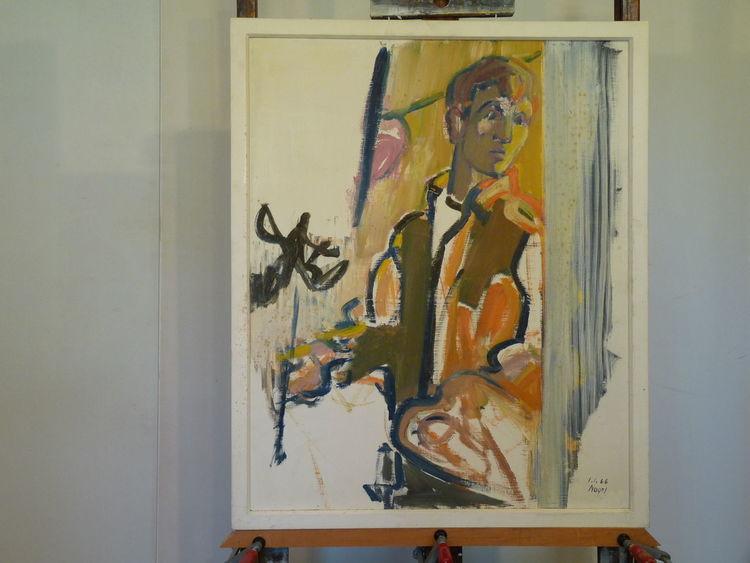 Figur, Rahmen, Malerei,