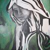 Gesicht, Acrylmalerei, Malerei, Mimik