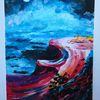 Acrylmalerei, Meer, Farben, Blüte
