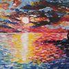 Farben, Sonne, Acrylmalerei, Haus