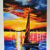 Farben, Boot, Malerei, Meer