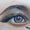 Augen, Augenbraue, Iris, Aquarellmalerei