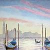 Morgenstimmung, Gondel, Venedig, Boot