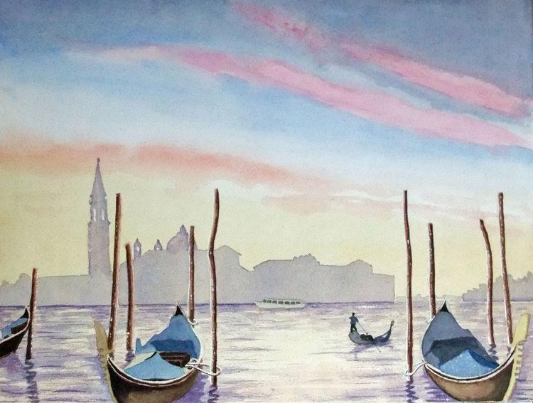 Boot, Venedig, Stadt, Wasser, Gondel, Morgenstimmung