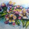 Apfel, Garten, Blüte, Aquarell pflanzen