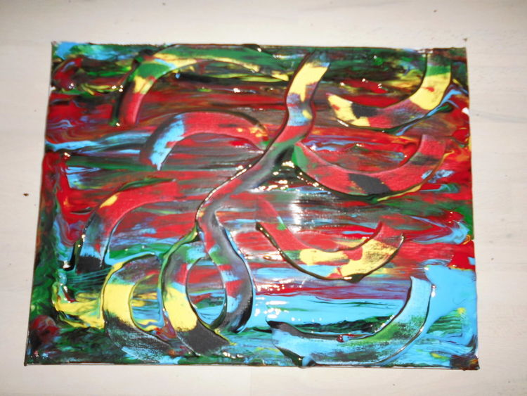 Acrylmalerei, Malerei, Farben, Abstrakt,