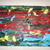 Acrylmalerei, Farben, Malerei, Abstrakt