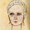 Fräulein, Portrait, Malerei