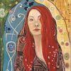 Frau, Malen, Portrait, Malerei