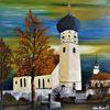 Wandbild, Obertaufkirchen, Acrylmalerei, Malen