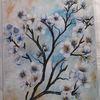 Acrylmalerei, Blüte, Schlafzimmer, Malerei