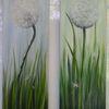 Zeitgenössisch, Pusteblumen, Blau, Modern art