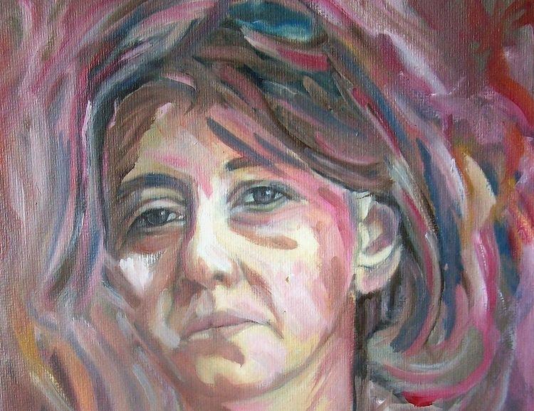 Blick, Frau, Malerei