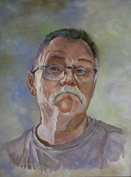 Malerei, Blödmann, Portrait