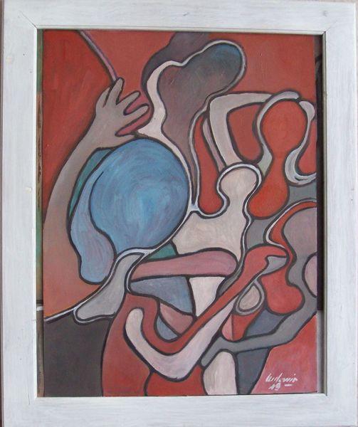 Abstrakt, Tanz, Malerei,