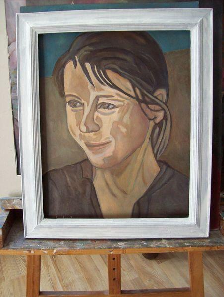 Ölmalerei, Rahmen, Frau, Malerei, Gefallen