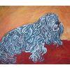 Blau, Malerei, Acrylmalerei, Hund