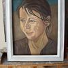 Rahmen, Frau, Malerei, Ölmalerei
