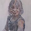 Malerei, Mädchen, Acrylmalerei