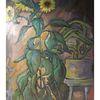 Sonnenblumen, Malerei, Acrylmalerei