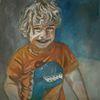 Frech, Junge, Blond, Malerei