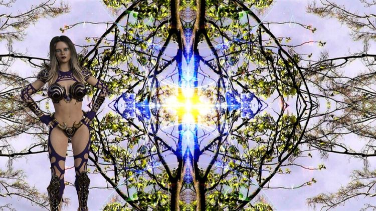 Baum, Natur, Abstrakt, Frau, Digitale kunst