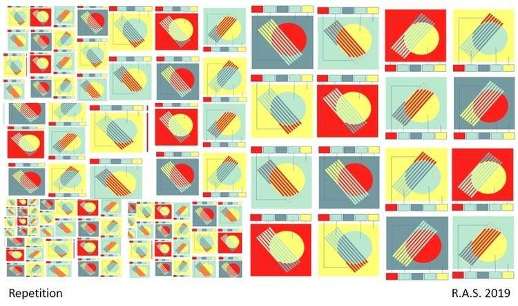 Repetition, Kreis, Konkrete kunst, Kreisringe, Digitale kunst