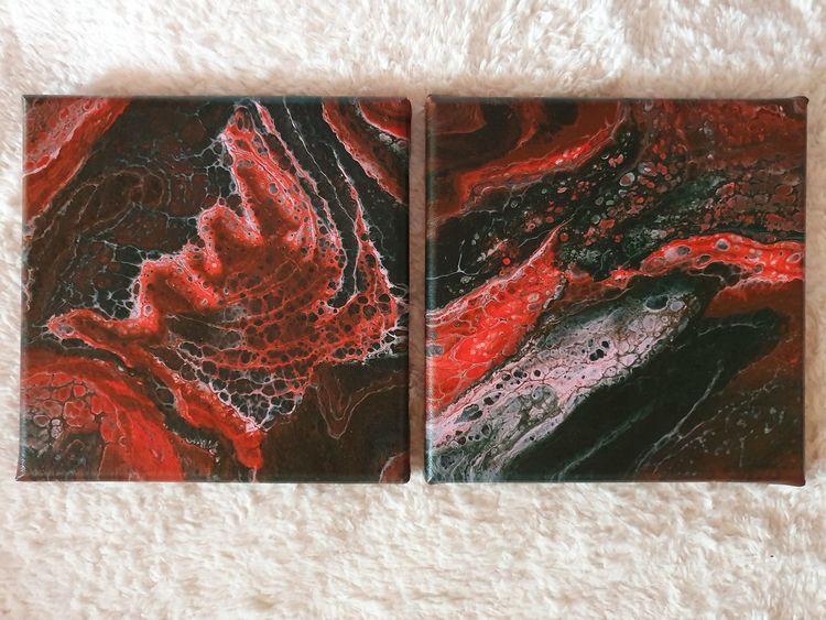 Pouring, Mischtechnik, Farben, Abstrakt, Acrylmalerei