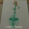 Aquarellmalerei, Blumen, Vase, Aquarell