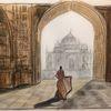 Indien, Tanz, Pastellmalerei, Malerei