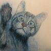 Katze, Acrylmalerei, Malerei,