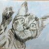 100 x70, Katze, Malerei,