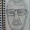 Mann, Depression, Selfie, Zeichnungen