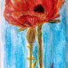 Mohn, Acrylmalerei, Malerei,