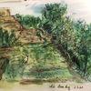 Skizze, Ruine stromberg, Din a5, Zeichnungen