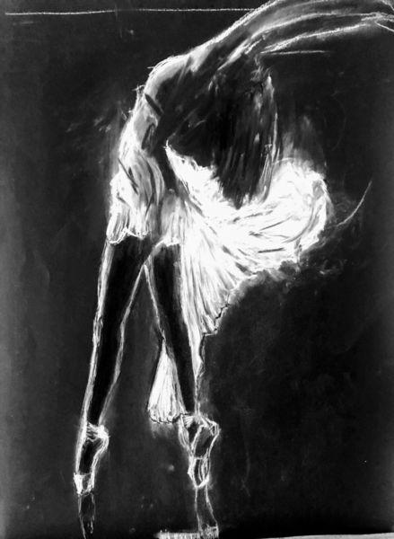 Tanz, Kreide, Zeichnungen,