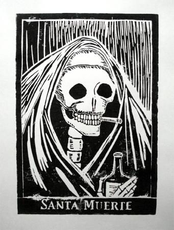 Tag der toten, Tod, Druckgrafik, Santa,