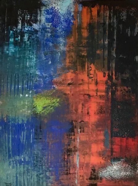 Abstrakt, Komposition, Acrylmalerei, Malerei