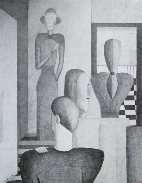 Weiß, Bleistiftzeichnung, Menschen, Schwarz, Zeichnungen