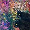 Acrylmalerei, Katze, Blüte, Malerei