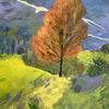 Acrylmalerei, Landschaft, Süden, Malerei