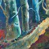 Abstrakt, Acrylmalerei, Wald, Malerei
