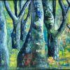 Baum, Acrylmalerei, Wald, Malerei