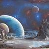 Energie, Landschaft, Planet, Malerei