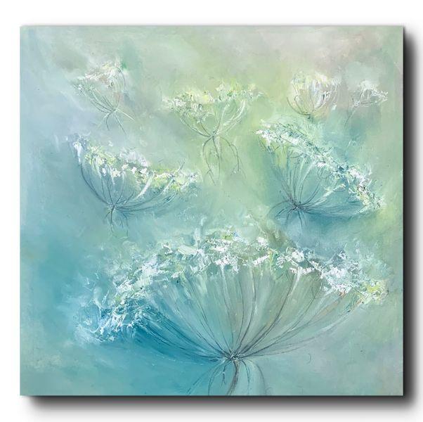 Malerei, Ölmalerei, Wald, Landschaft malerei, Blumen, Pflanzen