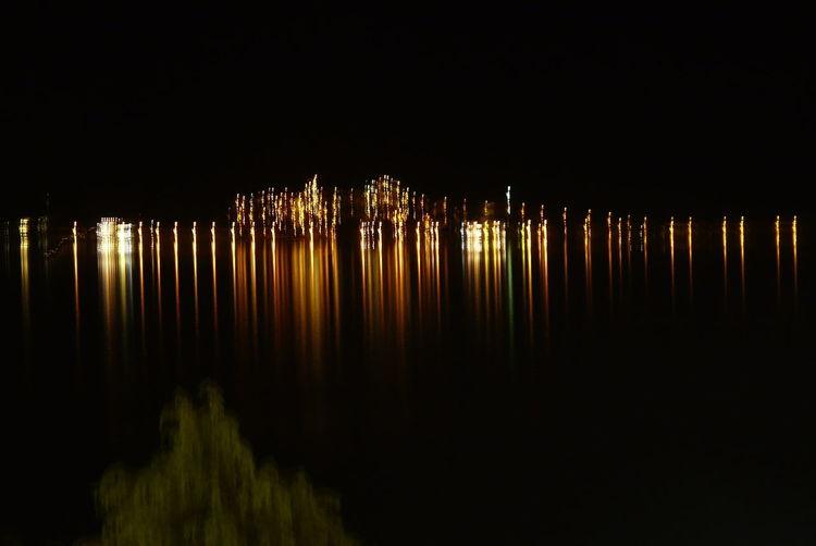Spiegelung, Wasser, Nacht, Licht, Fotografie
