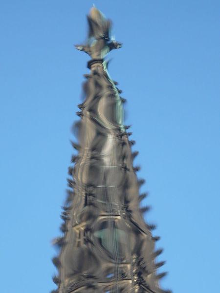 Himmel, Turm, Verzerren, Fotografie