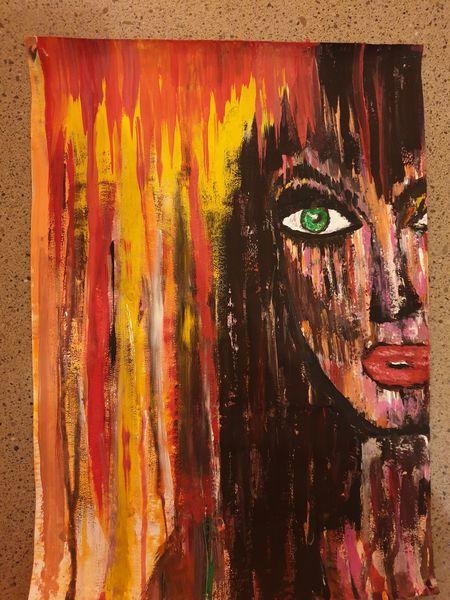 Acrylmalerei, Menschen, Expressionismus, Anfängerin, Aquarell